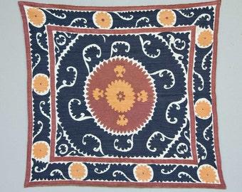 40 x 43 Vintage Suzani Old Embroidery Suzani Wall Hanging Uzbek Suzani Table Cover Ethnic Suzani FAST SHIPMENT with ups - suzani-101
