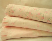 Set of Three Shabby Chic Baby Girl Floral Burp Cloths - Baby Girl Shower Gift