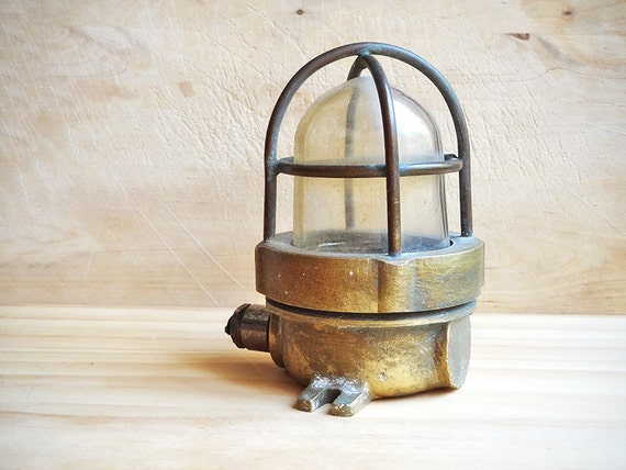 Vintage Nautical Lamp Small Brass Ship S Lantern