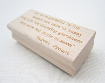 Custom Stamp - Rubber Stamp Customized with any words, phrase or saying of your choice - Typeset -
