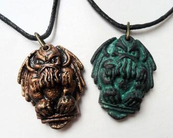 Cthulhu Necklace - hp lovecraft mythos pendant