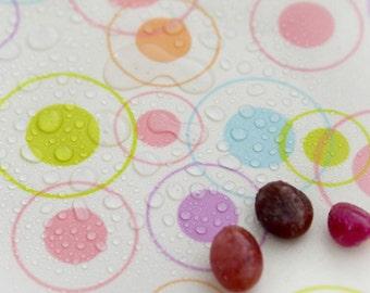 "Waterproof Fabric (59 x 36"") Circles - Pink - per Yard 33773"