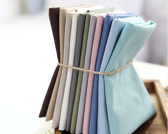 Solid Cotton Linen Choose From 11 Colors per Yard L20981 - 271