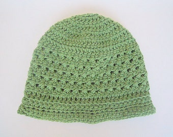 Green Hat 5 Year Old Boy Cotton Cap Preteen Girl Summer Beanie  Children  Gender Neutral Spring Clothing Ready To Ship
