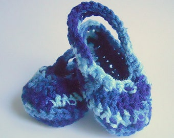 Infant Boy Blue Booties Baby Girl Sandals 3 To 6 Months  Children Handmade July 4 Accessory Patriotic Clothing