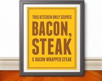 Bacon & Steak 8x10 Print