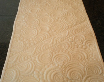 "Swirls and Feathers Table Runner, 13"" X 50"""