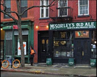 McSorley's Old Ale House - East Village - NYC Street - Photography - 8 X 10 Print - Art - Fine Art Photography - Man Cave Decor- Bar Decor