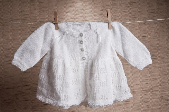 vintage pattern baby matinee coat