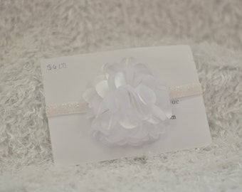 White flower headband , headband , white headband , head band