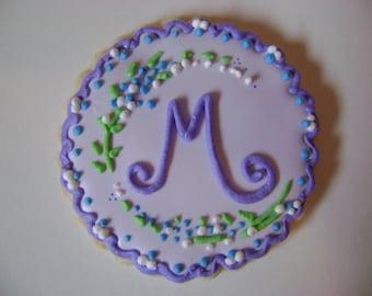 12 Monogram Cookies