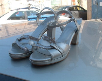 made in Italy party shoes size 40   circa 1960's HAND MADE