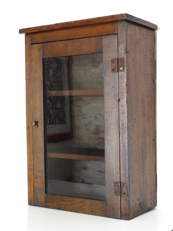 Antique Apothecary Cabinet Or Medicine Cabinet Wall Hanging