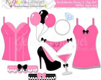 INSTANT DOWNLOAD,  Bachelorette Party Clip Art - bridal shower clip art - lingerie Clip art - commercial use - card making