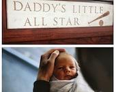 Daddy's Little All Star (Baseball) /// Sports Nursery Decor
