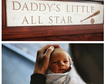 Daddy's Little All Star (Baseball) /// Sports Nursery Decor