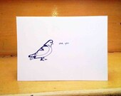 Love You Pigeon Valentines Card