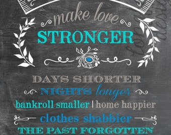 Baby Will Make Love Stronger - Customized Vertical Print - Choose Colors - For Nursery or Shower Decoration