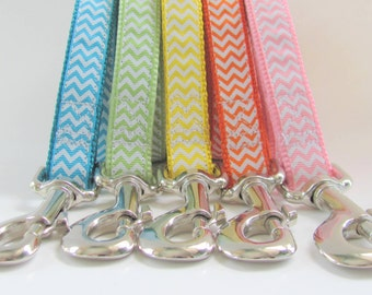 "Chevron Dog Leash - Matches ALL 3/4"" wide Chevron Dog Collars by CollarHabit - 9 colors to choose from - match your chevron dog collar"