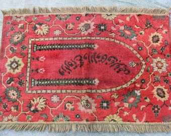 Buglem / Handwoven Vintage Turkish Antique Kilim Rug,  -  Manisa region ,60 years old - 29,6''x46,4'' inch
