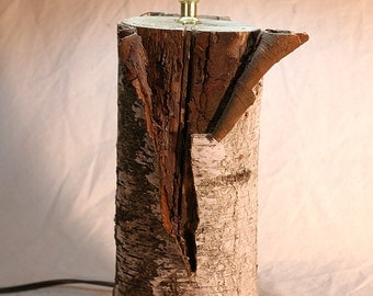 Birch Log Lamp Made From Beautiful Natural Reclaimed Wood