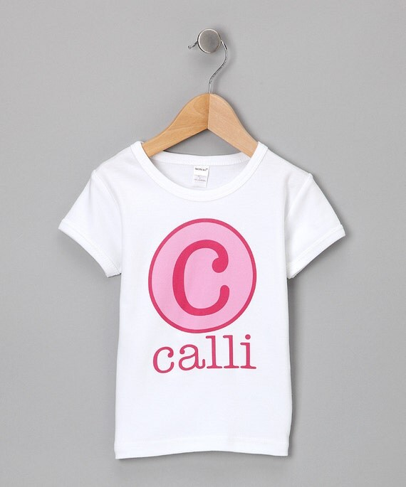 Personalized Name Initial or Birthday Number T Shirt Girls Boys Tee Baby Onesie High Quality Shirt