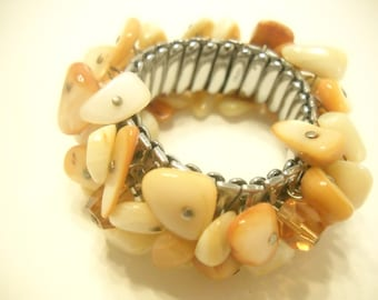 MOTHER OF PEARL Stretch Bracelet (7898)
