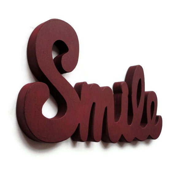 Smile Wall Sign - Wooden Lettering - Wall Decor - Wall Hanging