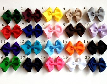 Ten Medium Boutique Bows - You CHOOSE THE COLORS - Toddler Bows - Baby's First Bows