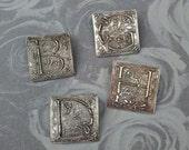 Silver Monogram Initial Pendant, Monogram Pendant, Initial Pendant