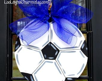 Door Hanger: Soccer Ball, Soccer, Sports Wall Decor, Sports Decor