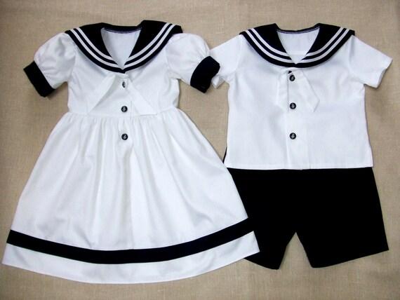 Mariage Plage Costume Homme : Sailor boy costume marin fille robe mariage parti par graccia