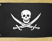 3' X 5' Pirate Flag: Reinforced Canvas Calico Jack With Grommets (Various Colors)