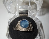 Kyanite and Sterling Ring   Size  11