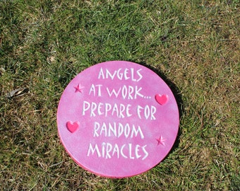 "Garden Stepping Stone - ""Angels at Work"""