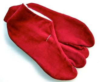 Vintage velours Japanese small tabi socks