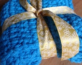 Set of 2 Small Sized Teal Cloths Dish Cloths