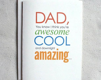Father's Day Card Funny Dad, You know I think you're awesome...