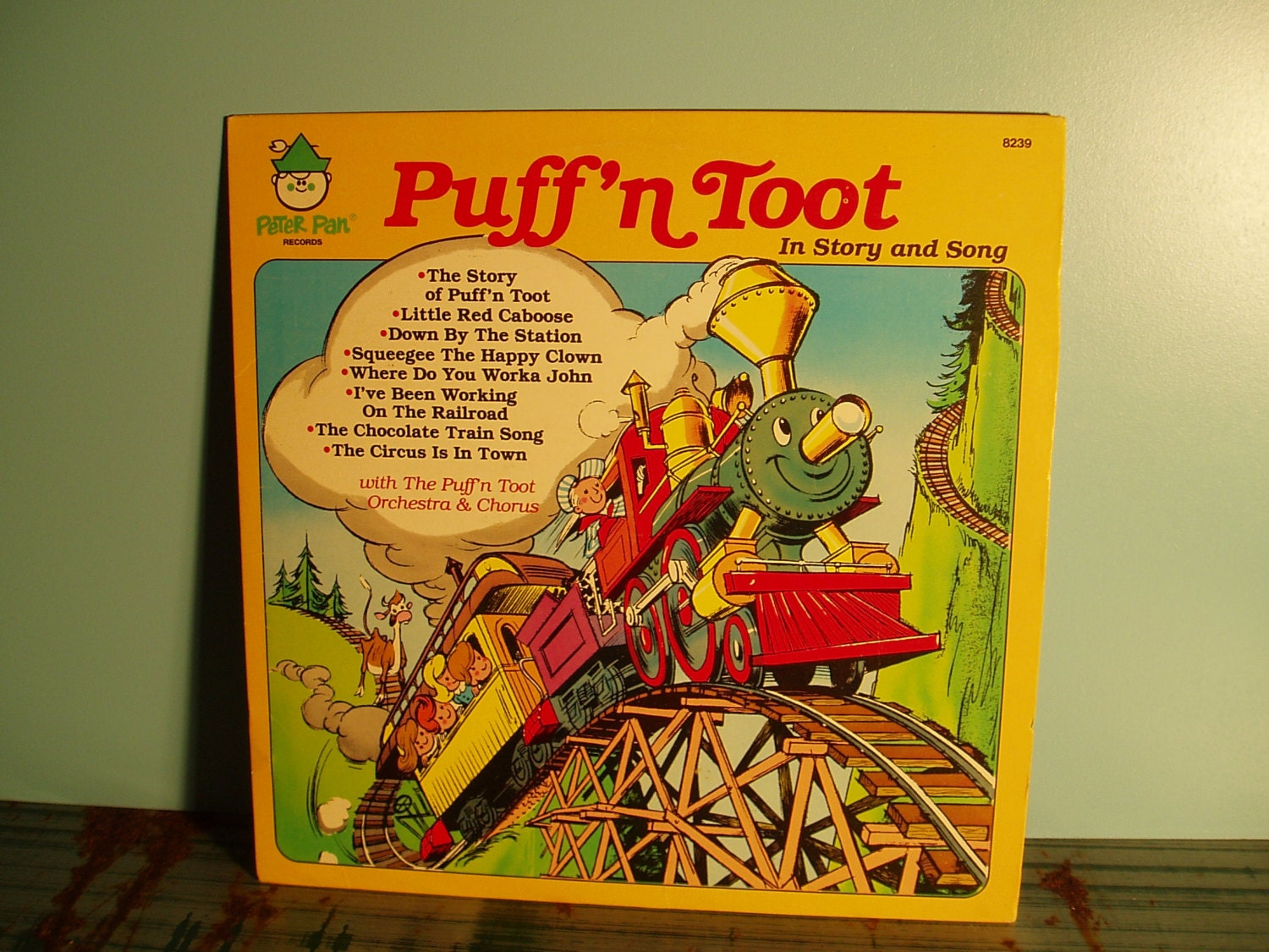 Vintage Puff N Toot Railroad Train Story And Song Vinyl