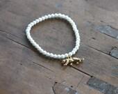 White tiger bracelet / agate stone bracelet / charm bracelet