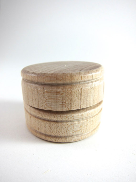 Unfinished Wooden Box - Small Wood Pillbox Pill Case