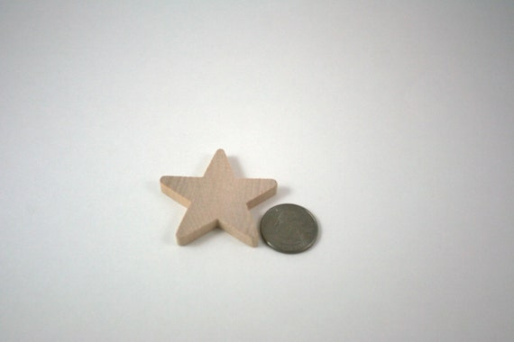 2 inch Wooden Stars (25 Pk) - Unfinished Wood Star
