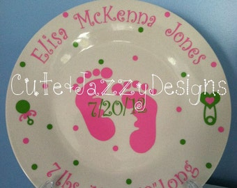 Personalized Ceramic Baby Plate