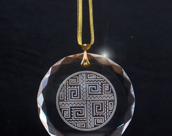 Etched Crystal Southwestern Ornament