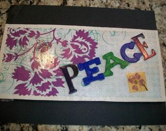 Peace Medium Decorative Tile