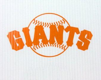 """San Francisco Giants Cut Vinyl Sticker  6"""" X 3.2"""""""