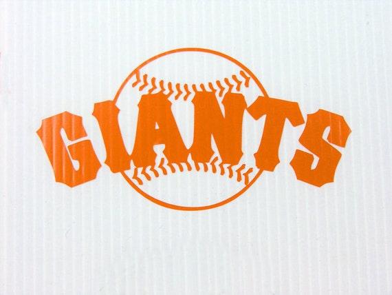 San Francisco Giants Cut Vinyl Sticker 6 X 3 2