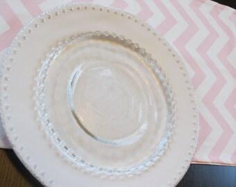 Table Runner in Light Pink & White Chevron
