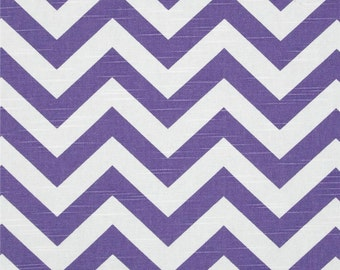 Chevron Table Runner in Thistle Purple and White