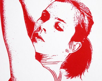 Classical Ballet Dancer (Maroon) - limited edition screenprint